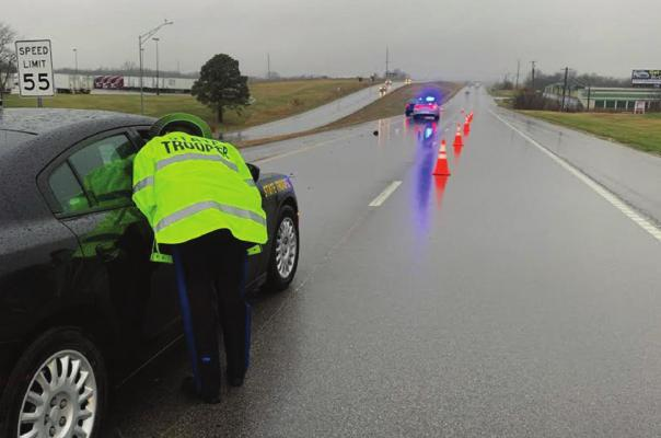 THE MISSOURI Highway Patrol handles the death of a pedestrian in the south lanes of U.S. Highway 69 at the Vintage Road intersection, near the McDonald's, at 7:21 a.m. Wednesday. PAUL WHITE | Excelsior Springs Police Department