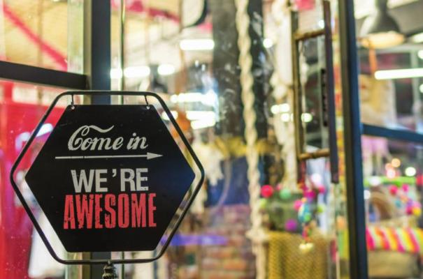 "THIS BUSINESS is proud to be ""awesome."""
