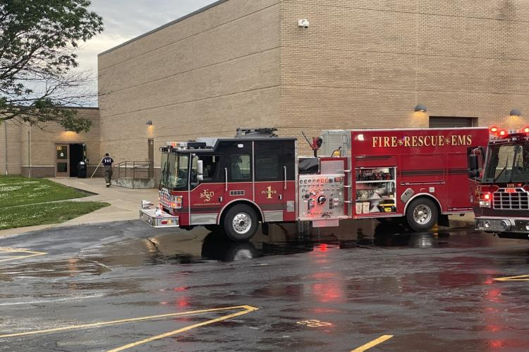 ESFD on the scene at the high school
