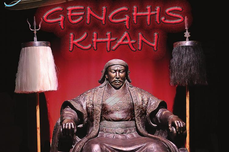 "LARGER-THAN-LIFE or death, this statue of Genghis Khan greets visitors to the exhibit, ""Genghis Khan: Bringing the Legend to Life,"" now through April 26 at Union Station. J.C. VENTIMIGLIA 