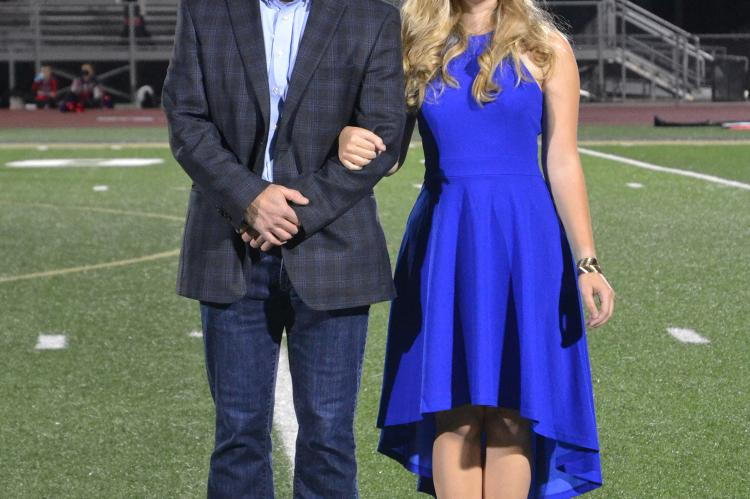 Junior Princess candidate Bella Selby with her father, Darin Selby. (Photo by Jae Juarez)