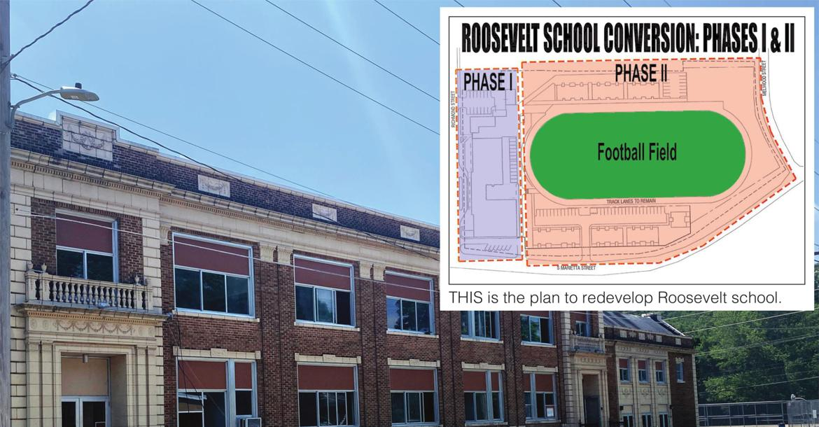 THE PLAN is to improve Roosevelt school, turning the building into a residential facility for the elderly.